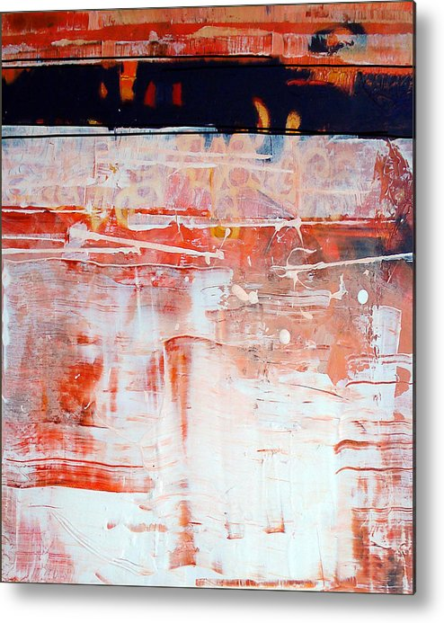 Abstract Metal Print featuring the painting Preliminaries by Dale Witherow
