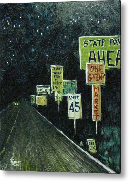 Road Metal Print featuring the mixed media Road Trip by Kenny Henson