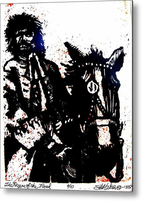 English Highwayman Metal Print featuring the mixed media Rogue Of The Road by Seth Weaver