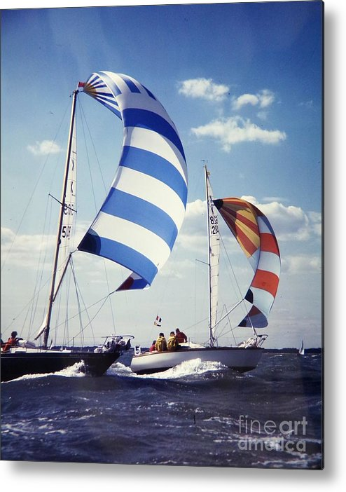 Sailboats Metal Print featuring the photograph Sailboats by Roger Smith