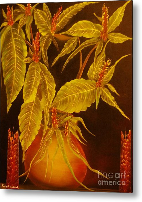 Sanchezia Metal Print featuring the painting Sanchezia Atmosphere-original Sold-buy Giclee Print Nr 30 Of Limited Edition Of 40 Prints by Eddie Michael Beck