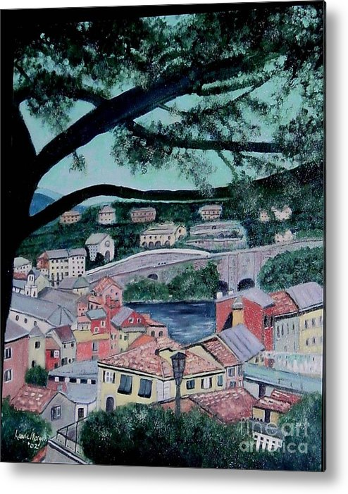 Italy Metal Print featuring the painting Sestri Levante by Laurie Morgan