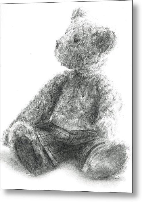 Teddy Metal Print featuring the drawing Teddy Study by Meagan Visser