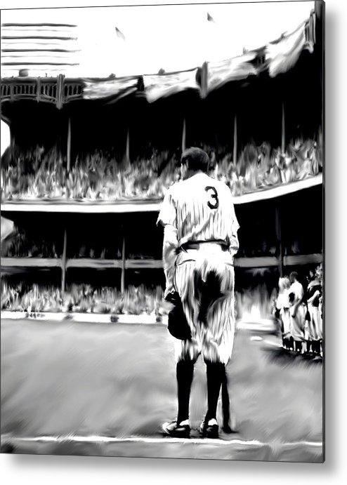 Babe Ruth Metal Print featuring the painting The Greatest Of All Babe Ruth by Iconic Images Art Gallery David Pucciarelli