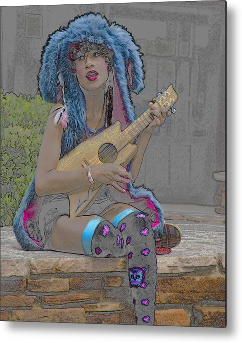Singing Metal Print featuring the photograph The Singer by Tom Kelly