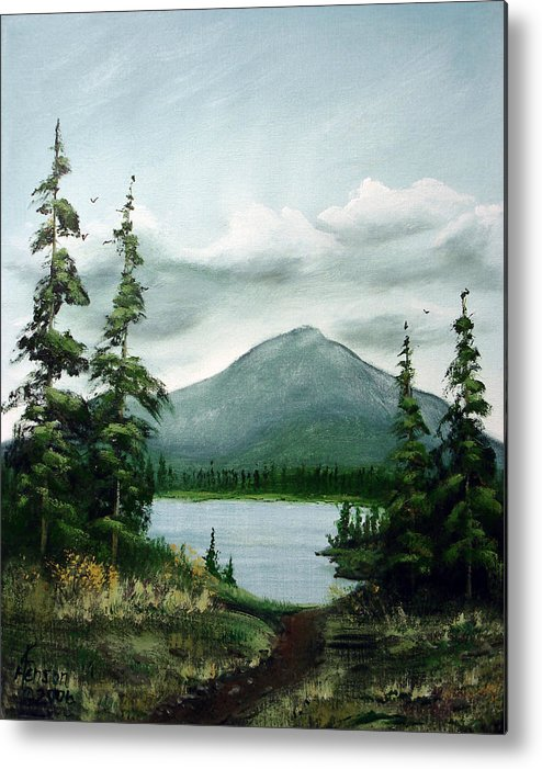 Trail Metal Print featuring the mixed media Trail To The Lake by Kenny Henson