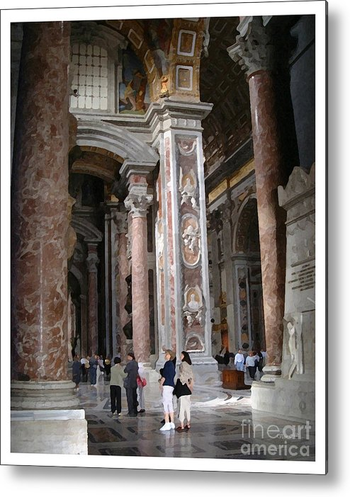 Italy Metal Print featuring the painting Vatican Interior by Victor Milt