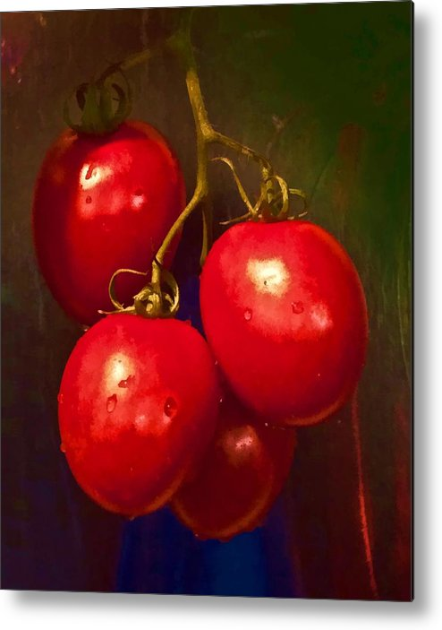 Tomatoes Metal Print featuring the photograph Vine Ripe Tomatoes by Joe Carini