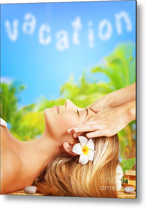 Antistress Metal Print featuring the photograph Woman In The Spa by Anna Om