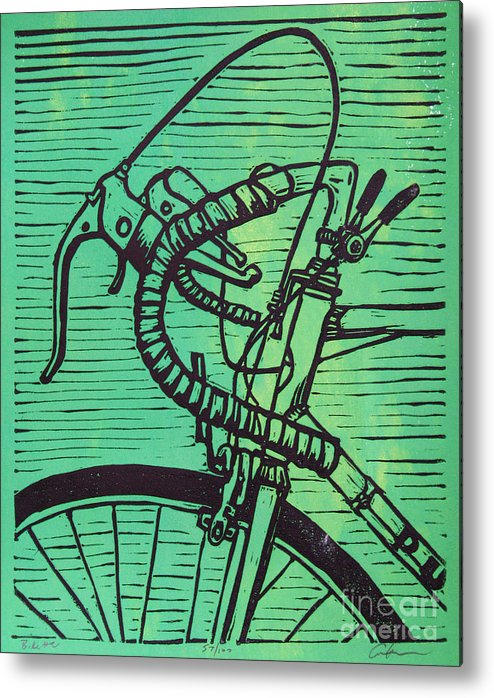 Print Metal Print featuring the drawing Bike 2 by William Cauthern