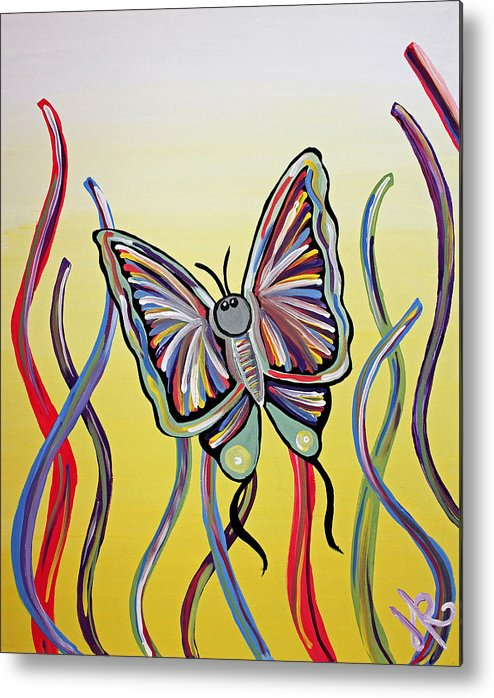 Butterfly Metal Print featuring the painting Butterfly Dream by Hazel Reidy