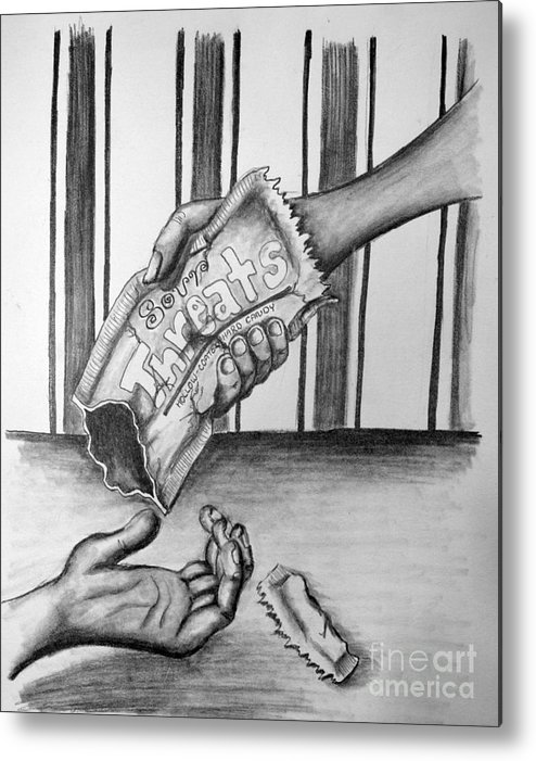 Metal Print featuring the drawing Empty Threats by Tracy Glantz