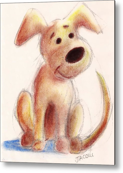Pastel Metal Print featuring the painting Benny by Jacqui Mckinnon
