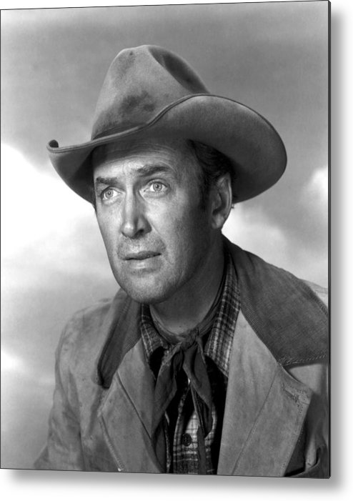 1930s Portraits Metal Print featuring the photograph Far Country, The, James Stewart, 1955 by Everett