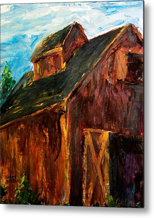 Farm Metal Print featuring the painting Farm Barn by Scott Nelson