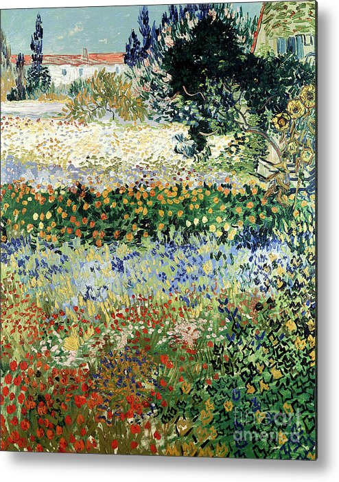 Garden In Bloom Metal Print featuring the painting Garden In Bloom by Vincent Van Gogh
