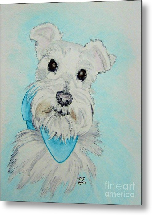 Dog Metal Print featuring the drawing Kaja by Mary Rogers