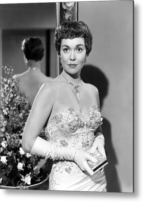 1940s Portraits Metal Print featuring the photograph Lets Do It Again, Jane Wyman, 1953 by Everett