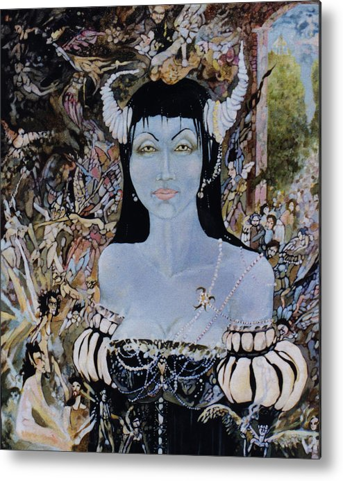 Metal Print featuring the drawing Queen Mab 1 by Jackie Rock