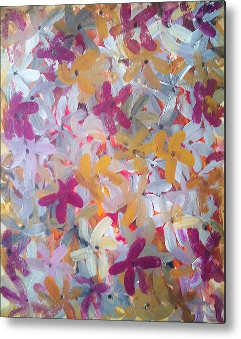 Spring Metal Print featuring the painting Spring Awakening by Derya Aktas