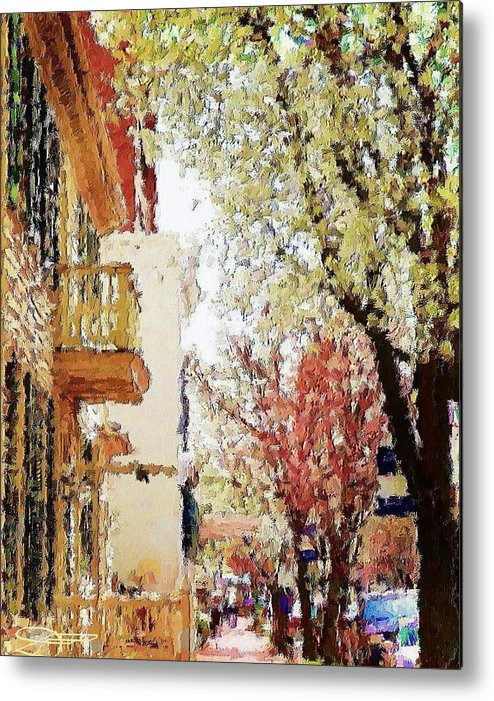 Landscape Art Metal Print featuring the photograph Spring In The Burg by Diana Chason