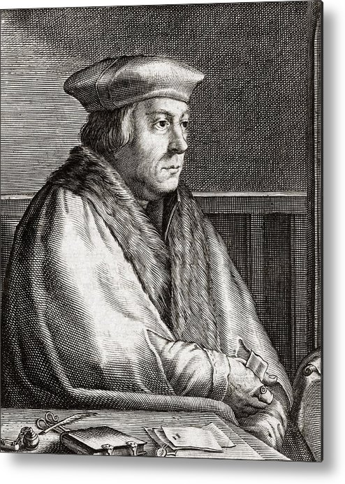 Thomas Metal Print featuring the photograph Thomas Cromwell, English Statesman by Middle Temple Library