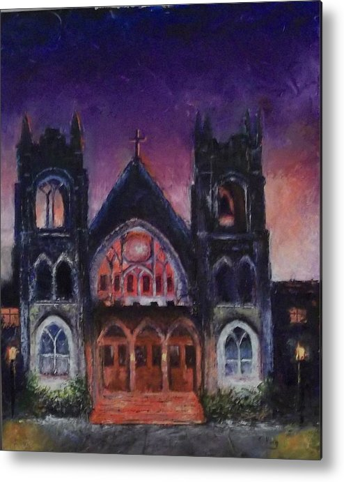 Church Metal Print featuring the painting Untitled by Stephen King