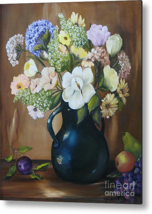Bouquet Metal Print featuring the painting Garden Bouquet by Carol Sweetwood