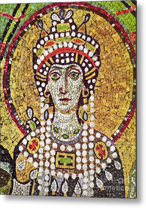 6th Century Metal Print featuring the painting Theodora (c508-548) by Granger