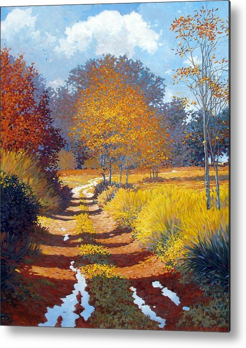Landscape Metal Print featuring the painting Autumn by Kevin Lawrence Leveque
