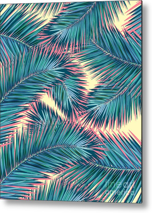 Summer Metal Print featuring the digital art Palm Trees by Mark Ashkenazi