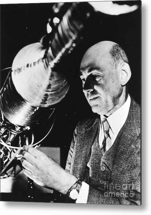 1940 Metal Print featuring the photograph Robert Hutchings Goddard by Granger