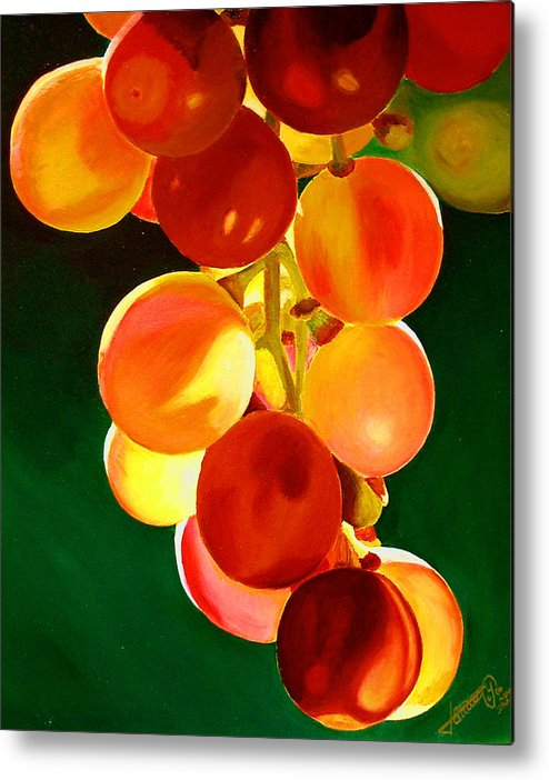Still Life Metal Print featuring the painting Sweet From The Sun by JoeRay Kelley