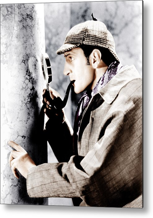 1930s Movies Metal Print featuring the photograph The Adventures Of Sherlock Holmes by Everett