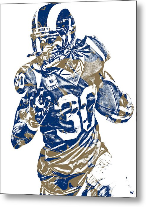 1bcf0a22 Todd Gurley Los Angeles Rams Pixel Art 22 Metal Print