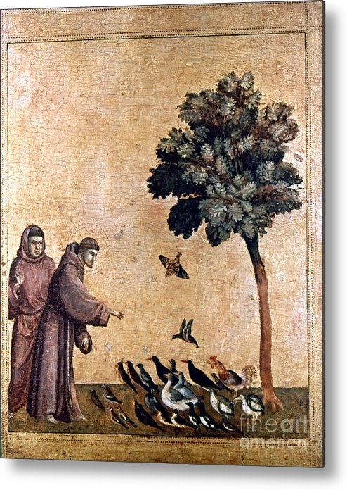 Aod Metal Print featuring the painting St. Francis Of Assisi by Granger