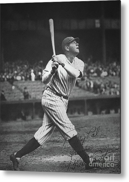 Babe Ruth Metal Print featuring the photograph Babe Ruth by American School