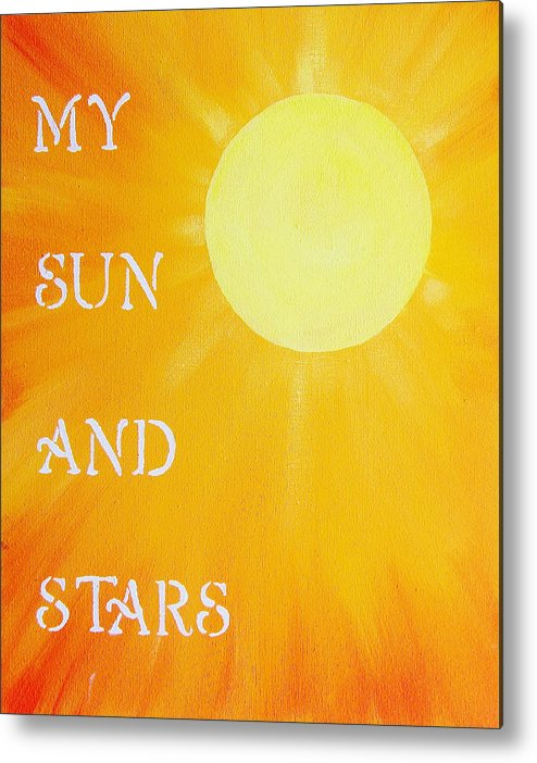 My Sun And Stars Metal Print featuring the painting 8x10 My Sun And Stars by Michelle Eshleman