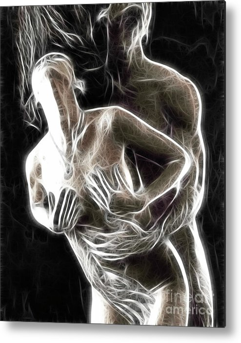 Sex Metal Print featuring the photograph Abstract Digital Artwork Of A Couple Making Love by Oleksiy Maksymenko