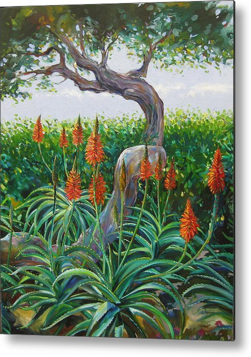 Botanical Metal Print featuring the painting Aloe Vera by Karen Doyle