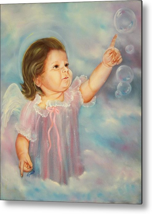 Angel Metal Print featuring the painting Angel Baby by Joni McPherson