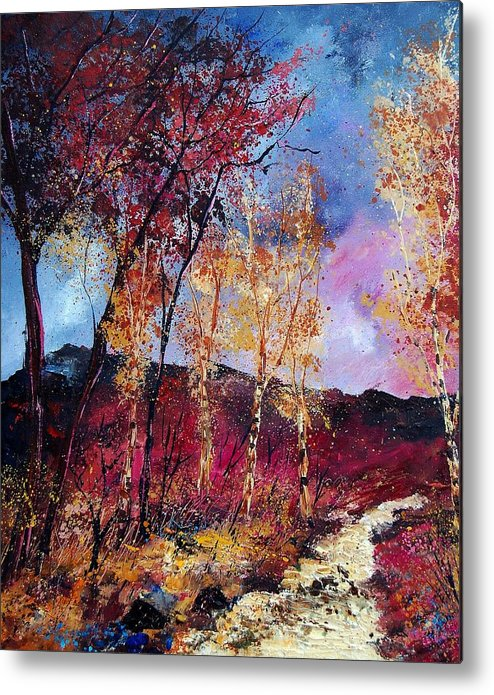 Landscape Metal Print featuring the painting Autumn 760808 by Pol Ledent