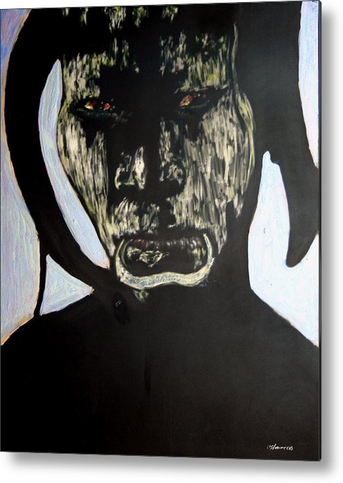 Metal Print featuring the mixed media Avenging Angel by Chester Elmore