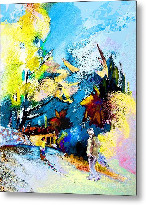 Pastel Painting Metal Print featuring the painting Back Home by Miki De Goodaboom