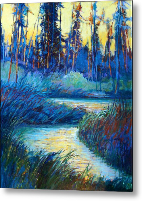 Landscape Metal Print featuring the painting Backwater Light by Dale Witherow