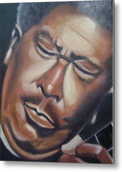 B.b. King Metal Print featuring the painting B.b. King by Toni Berry
