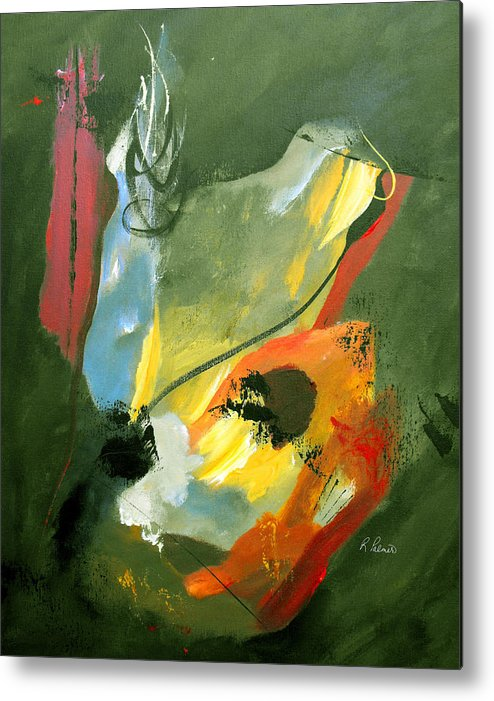 Abstract Metal Print featuring the painting Be Faithful by Ruth Palmer