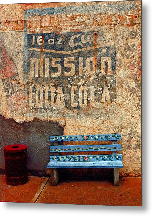 Arizona Photography Metal Print featuring the photograph Bench by John Gee