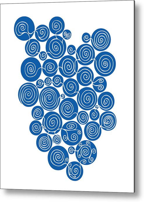 Blue Abstract Metal Print featuring the painting Blue Abstract by Frank Tschakert