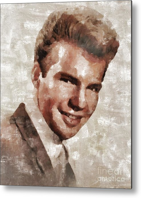 Metal Print featuring the painting Bobby Vee, Musician by Mary Bassett